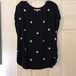 Navy with white top